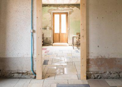 Pavimentazione della casa completata
