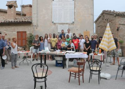 Presentazione dei lavori in piazza a Loretello