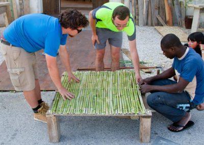 Lavoro collaborativo nella costruzione di un ansa per tea