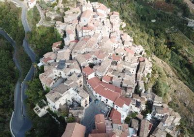 Visione aerea di 'downtown' Belmonte Calabro