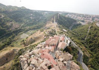 Visione aerea di Belmonte Calabro