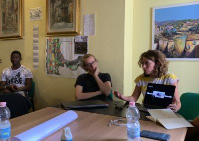 Presentazione di Matteo e Francesca durante il workshop