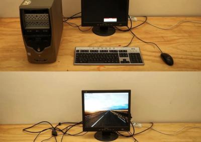 Computer setup al Seppie Lab di Amantea