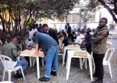 Workshop di disegno con i migranti di amantea