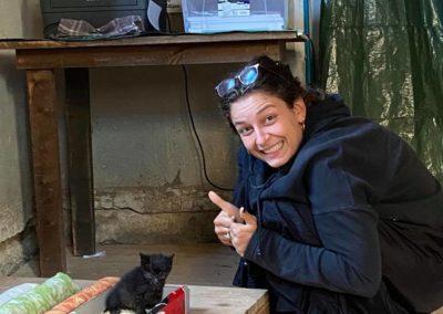 Hannah e Bonaventura, il gatto di Casa BelMONDO