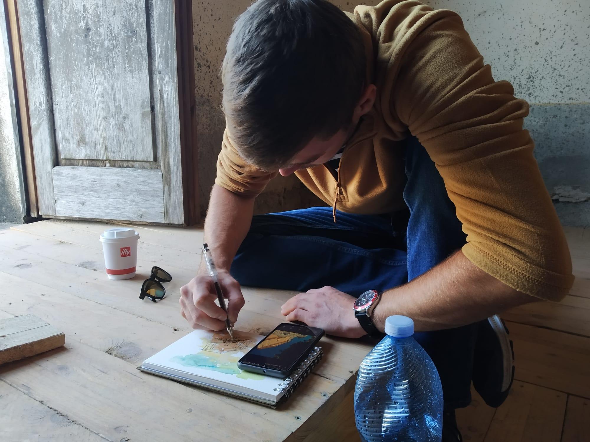 Studio dei pezzi con i professionisti della London Met a Belmonte